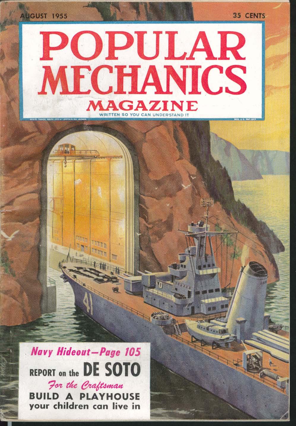 Image for POPULAR MECHANICS De Soto Test Report Navy Hideout Playhouse Design Plans 8 1955