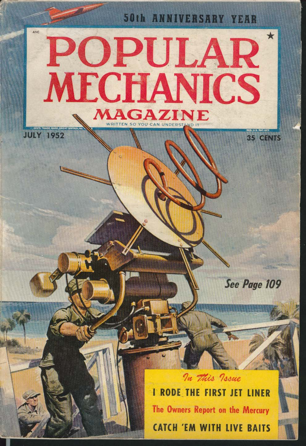 POPULAR MECHANICS Television Cameras Commercial Photography Mercury ++ 7 1952
