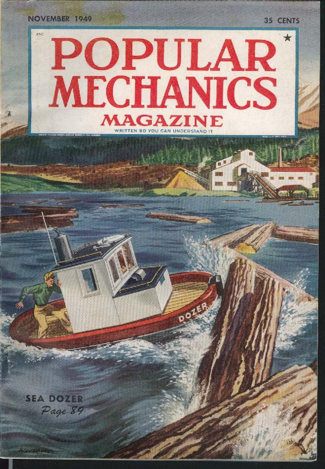 POPULAR MECHANICS Logging C-47 Crash Greenland Nylon Fur Martin XB-51 ++ 11 1949
