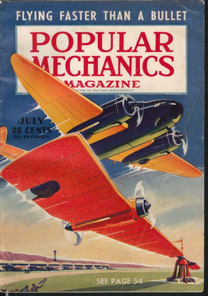 POPULAR MECHANICS Downtown Los Angeles Engineers B-19 Hemisphere Defender 7 1941