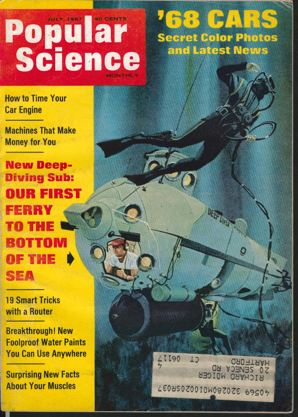 Image for POPULAR SCIENCE Car Engine Timing Bottom of the Sea Ferry ++ 7 1967