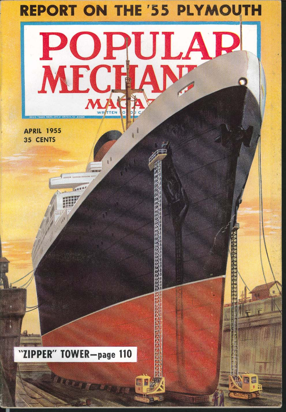 Image for POPULAR MECHANICS Plymouth test report Freight Car Atomic Power Submarine 4 1955