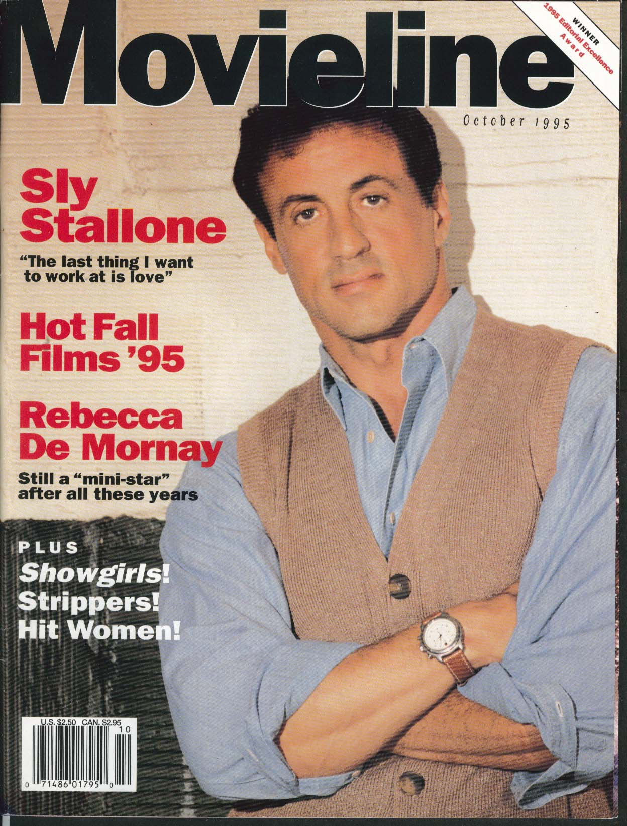 Image for MOVIELINE Sylvester Stallone Rebecca De Mornay Paul Verhoeven ++ 10 1995