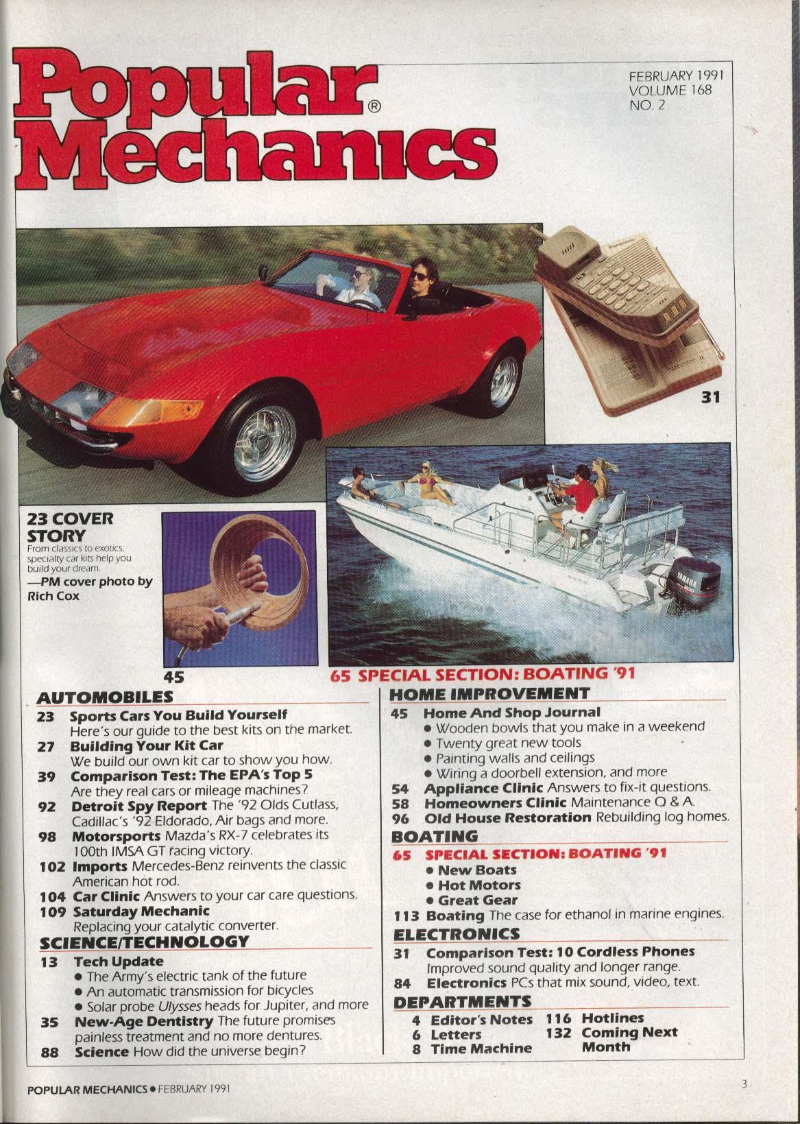 Image for POPULAR MECHANICS Olds Cutlass Cadillac Eldorado air bags Mercedes-Benz + 2 1991