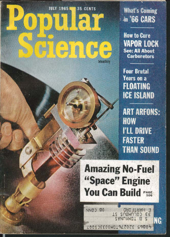 Image for POPULAR SCIENCE Peugeot Front Drive Pickup Alfa Romeo Fiat Lancia ++ 7 1965