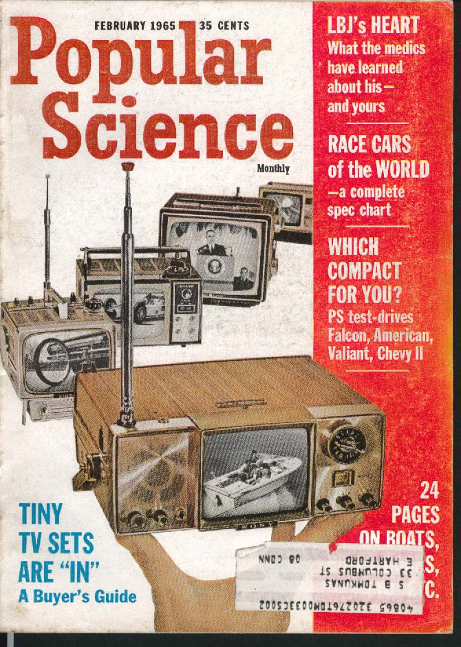 Image for POPULAR SCIENCE Falcon American Valiant Chevy II LBJ Lyndon Johnson ++ 2 1965