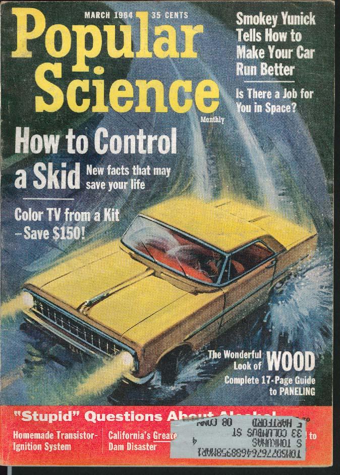 Image for POPULAR SCIENCE Smokey Yunick Bill Veeck Wernher von Braun Sun Color TV + 3 1964