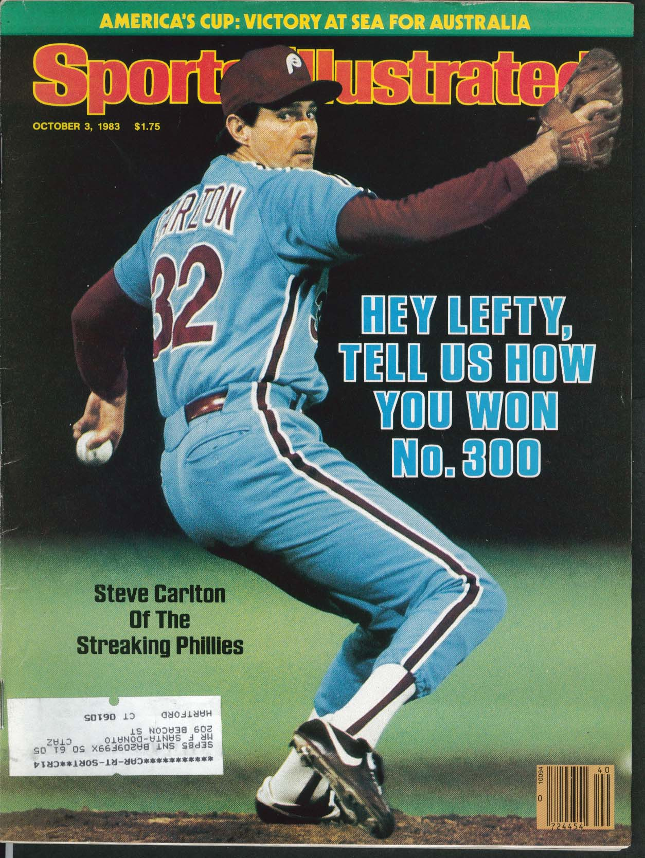 Image for SPORTS ILLUSTRATED Steve Carlton Gerrie Coetzee Yastrzemski Dokes ++ 10/3 1983