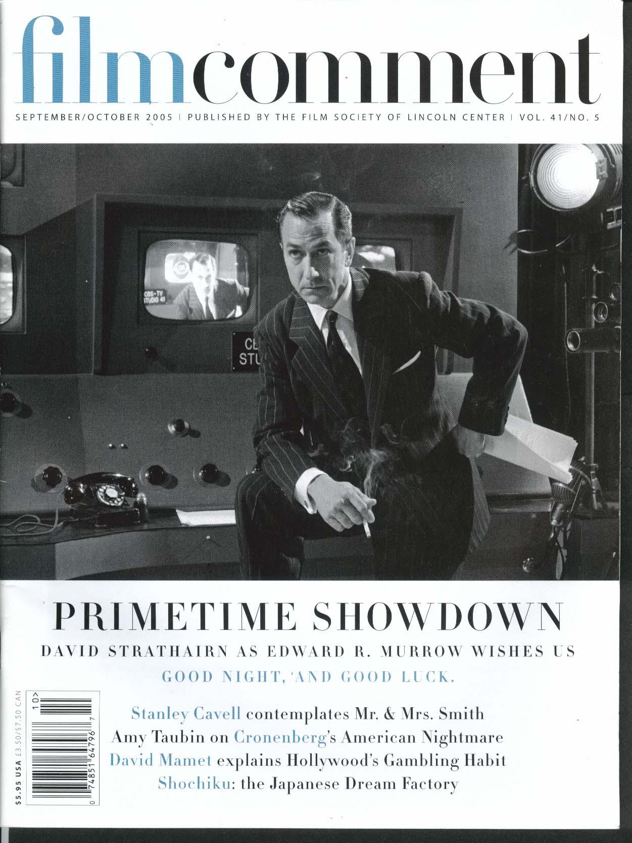 Image for FILM COMMENT David Strathairn Cronenberg Mamet Stanley Cavell Taubin + 9/10 2005