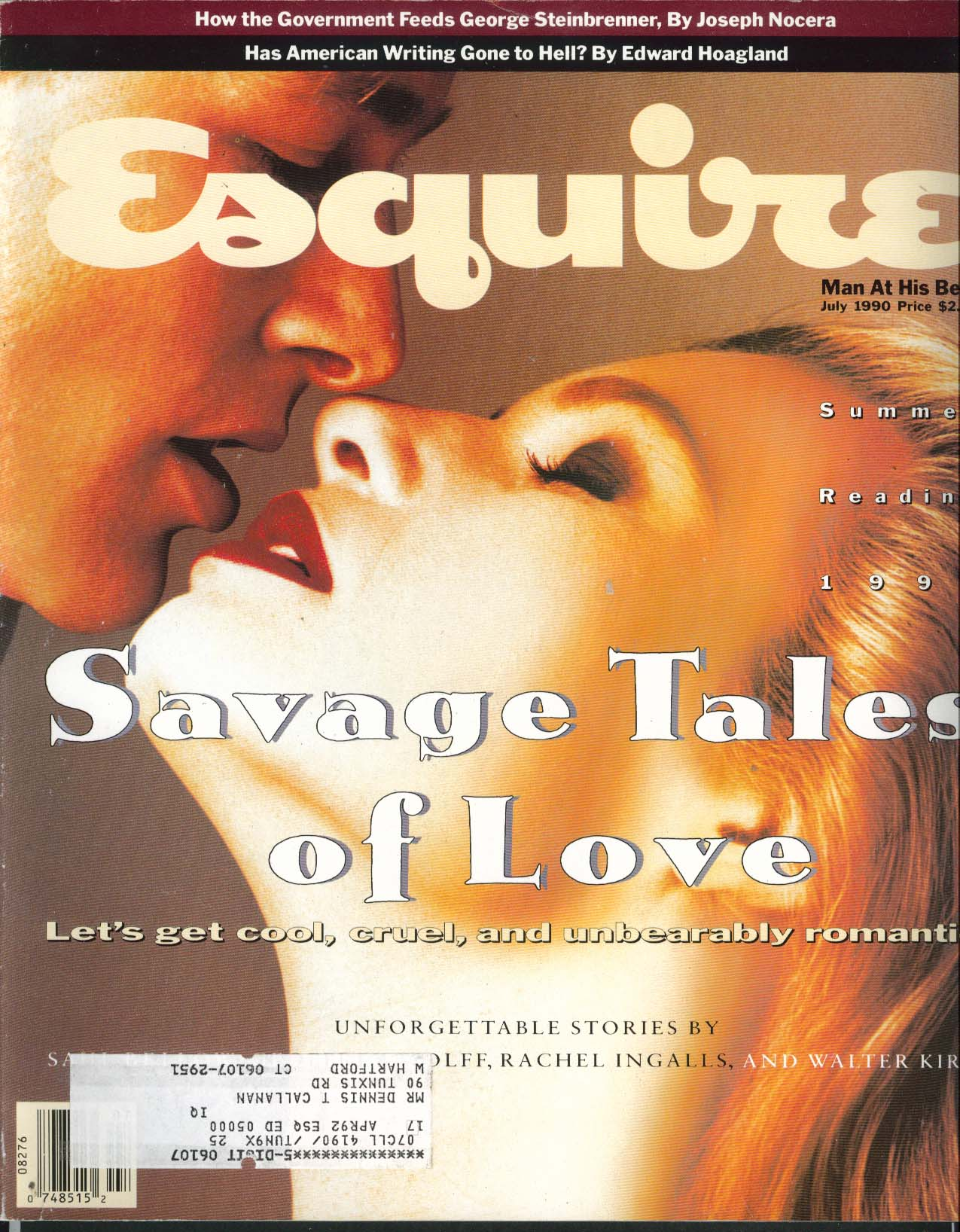 Image for ESQUIRE Claude Montana George Steinbrenner Bruce McCall ++ 7 1990