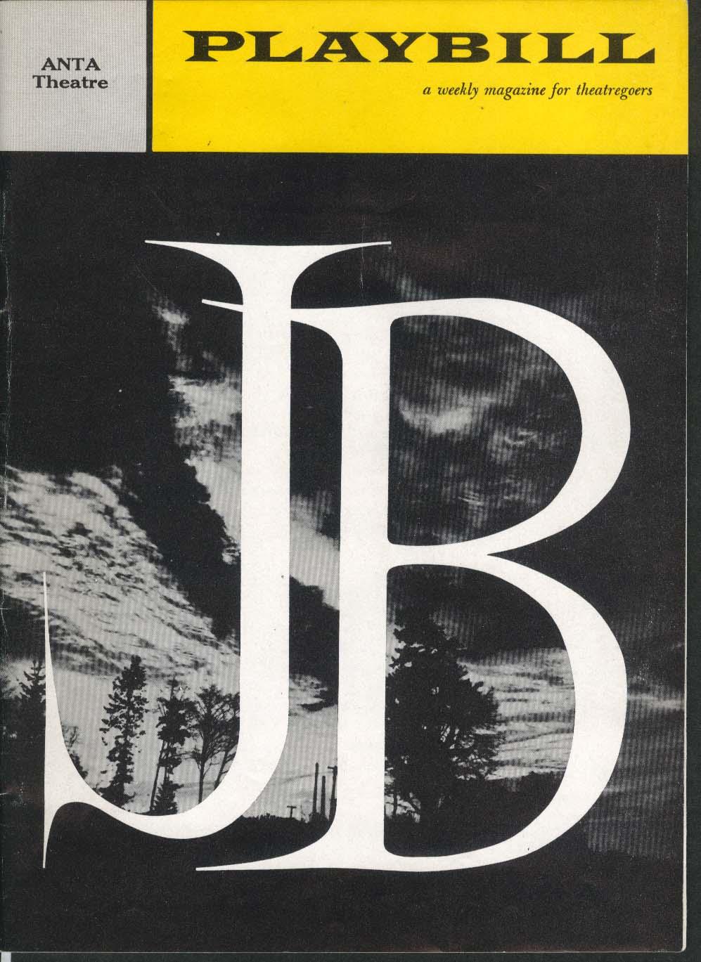 J.B. Playbill 12/29/58 Pat Hingle Christopher Plummer Raymond Massey Elia Kazan
