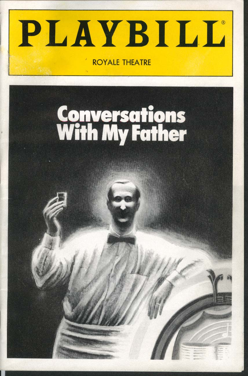 Conversations With My Father Playbill 7/92 Judd Hirsch Tony Shalhoub Jason Biggs
