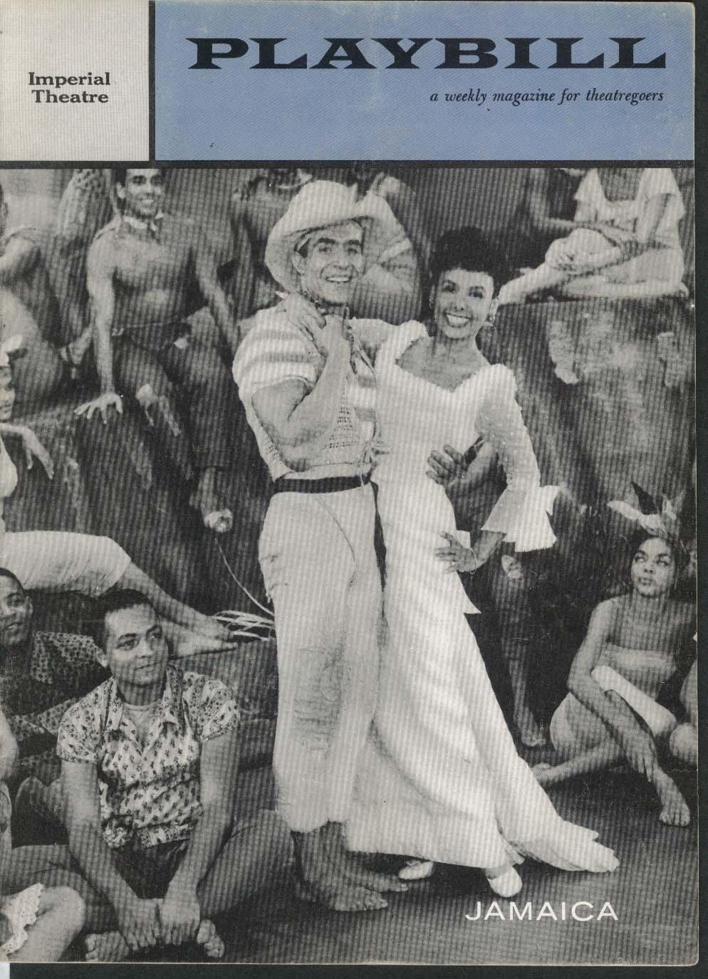 Jamaica Playbill 6/23/58 Lena Horne Ricardo Montalban Imperial Theatre