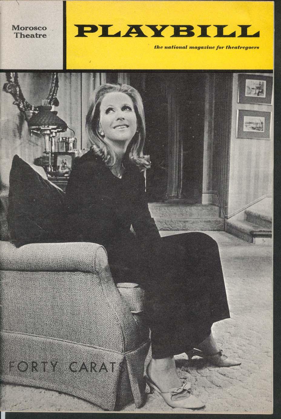 Forty Carats Playbill 9/1969 Julie Harris Marco St John Morosco Theatre