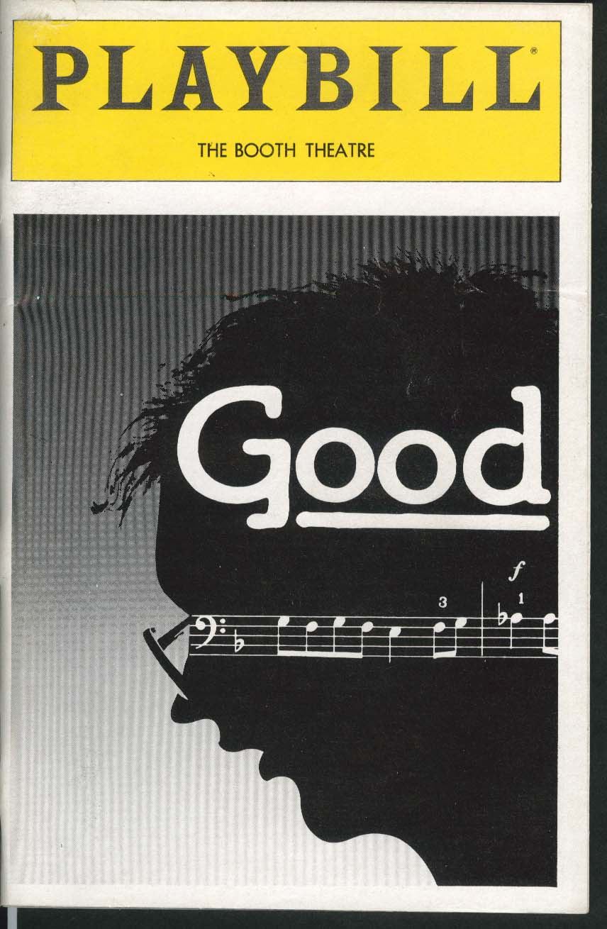 Image for Good Playbill 11/1982 Alan Howard Felicity Dean David Howey Booth Theatre