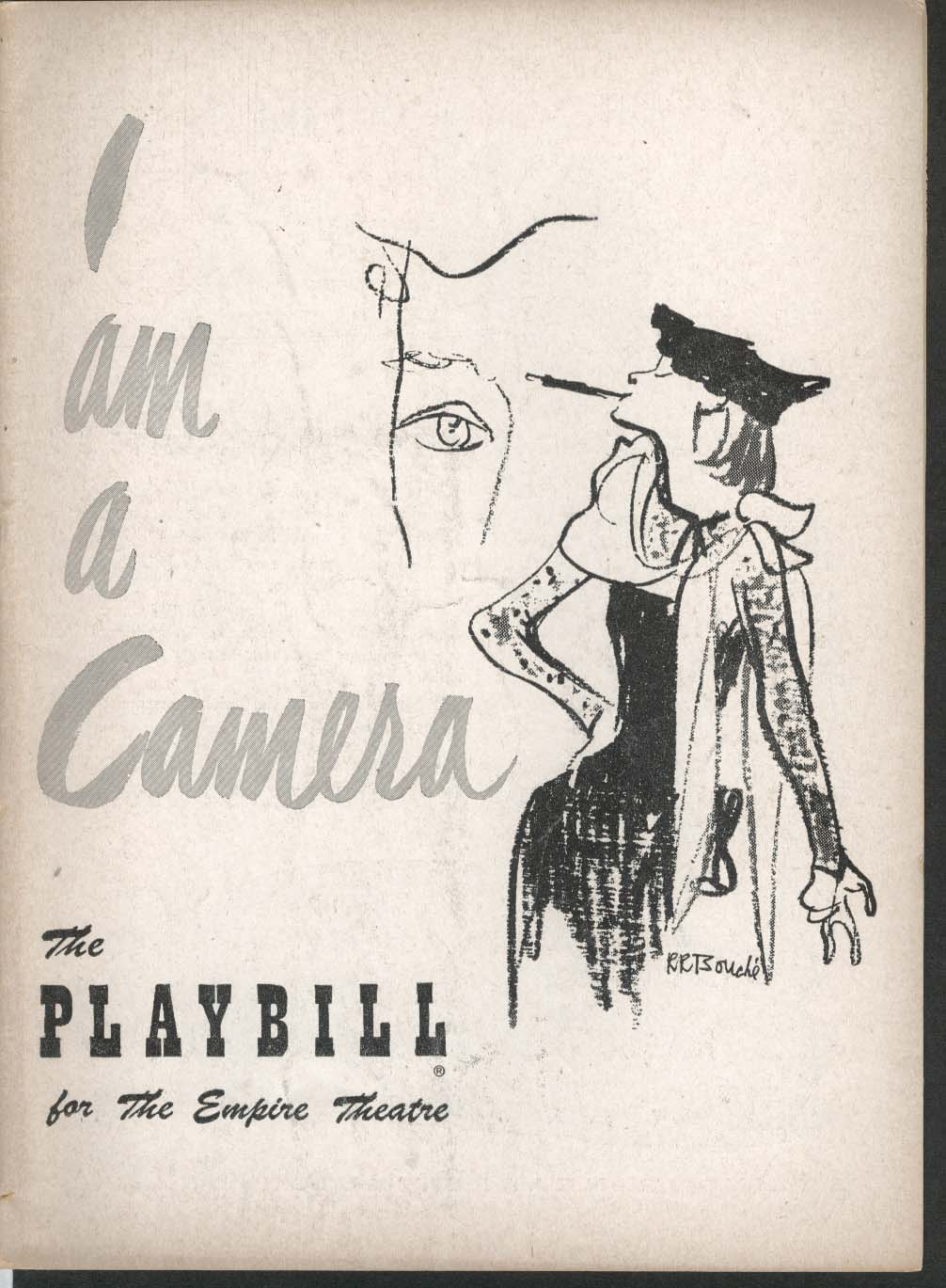 I Am a Camera Playbill 3/17/52 Julie Harris William Prince