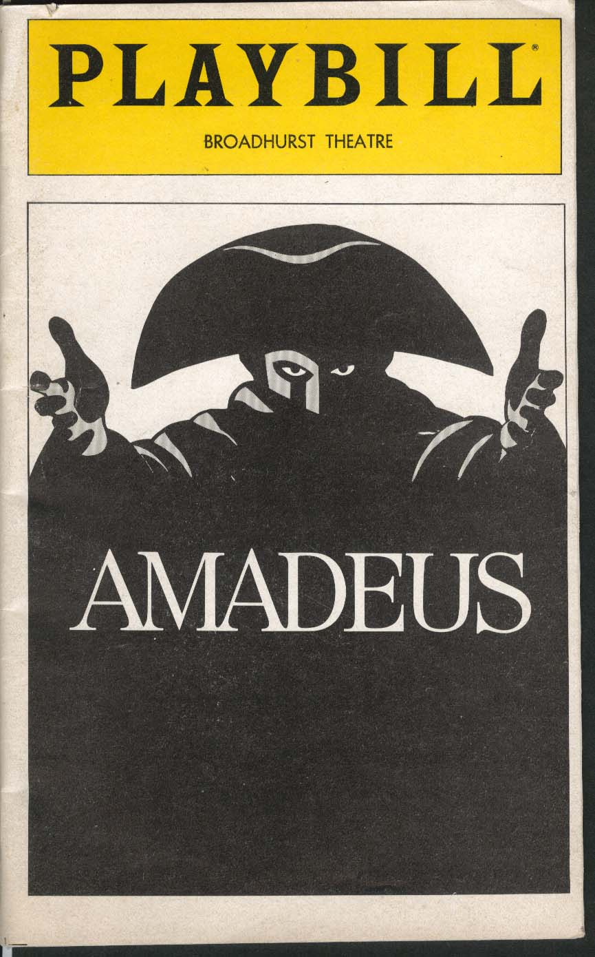 Amadeus Playbill 7/1981 Ian McKellen Peter Firth Amy Irving Broadhurst Theatre