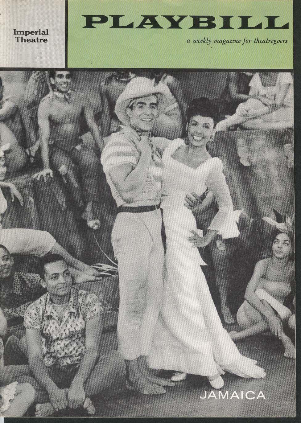 Jamaica Playbill 8/25/58 Lena Horne Ricardo Montalban Ossie Davis Adelaide Hall