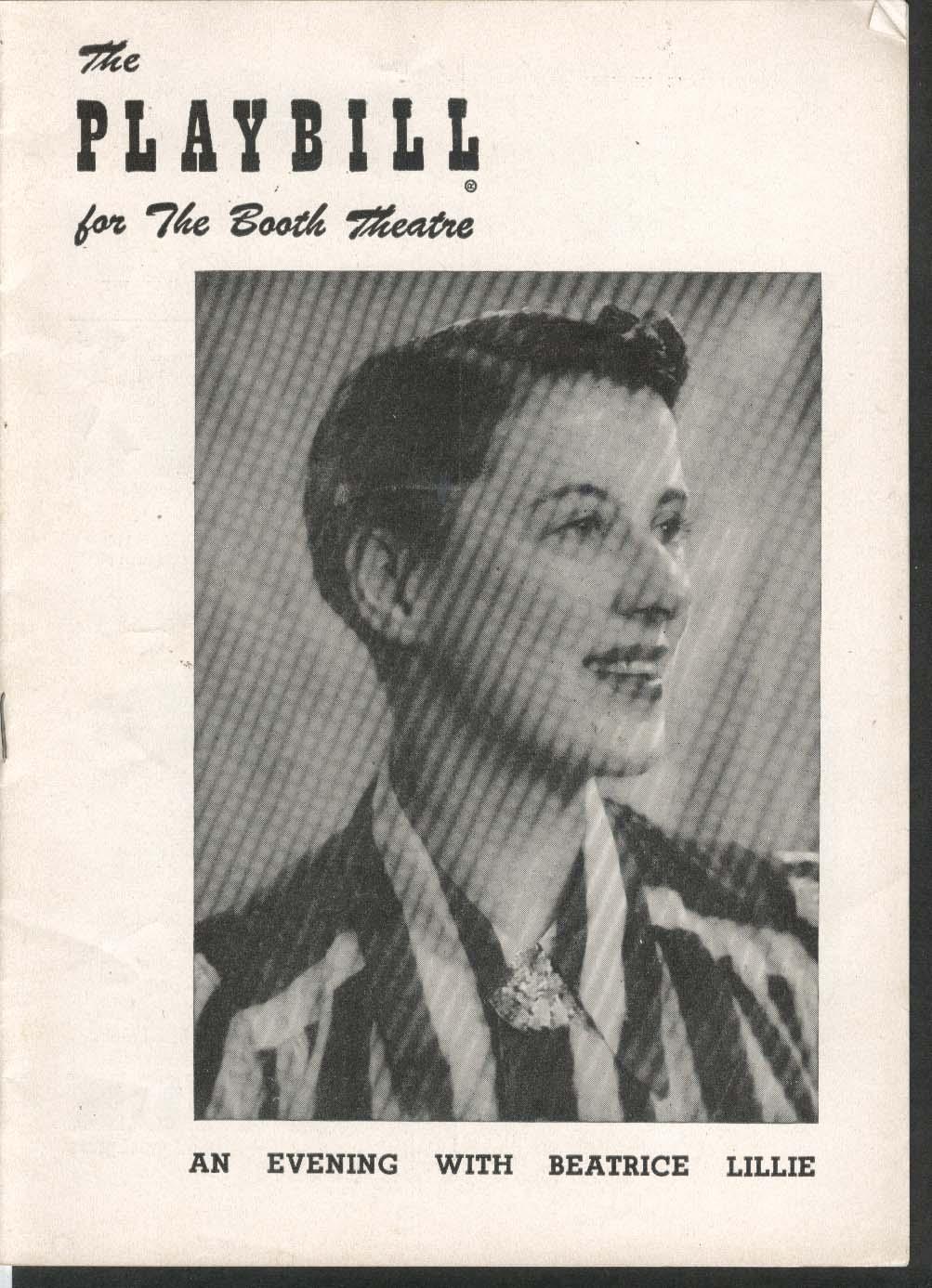 An Evening With Beatrice Lillie Playbill 3/16/53 Reginald Gardiner