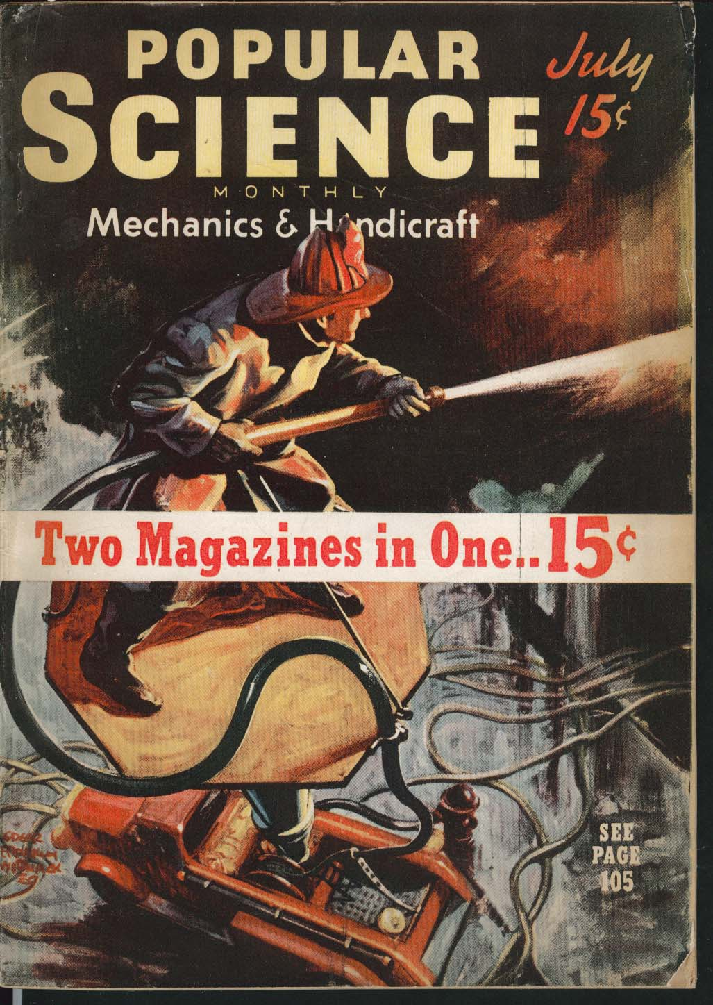 Image for POPULAR SCIENCE Dripproofing Oil Gun Split Twig Gadget High School Sleuth 7 1939