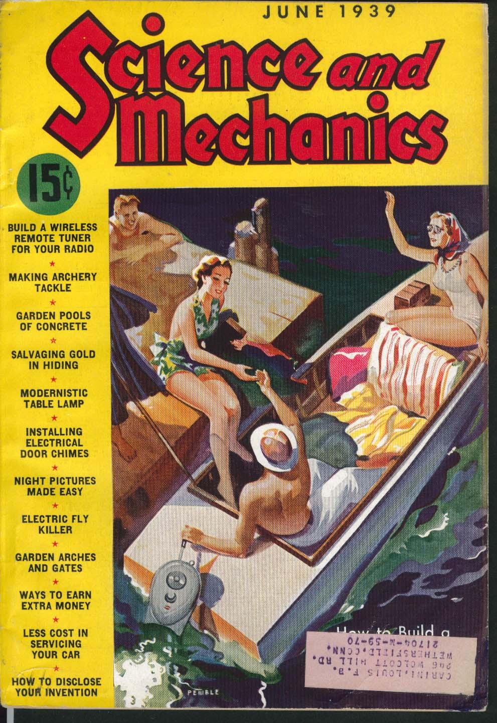 Image for SCIENCE & MECHANICS Garden Concrete Pools Electrical Door Chimes 6 1939
