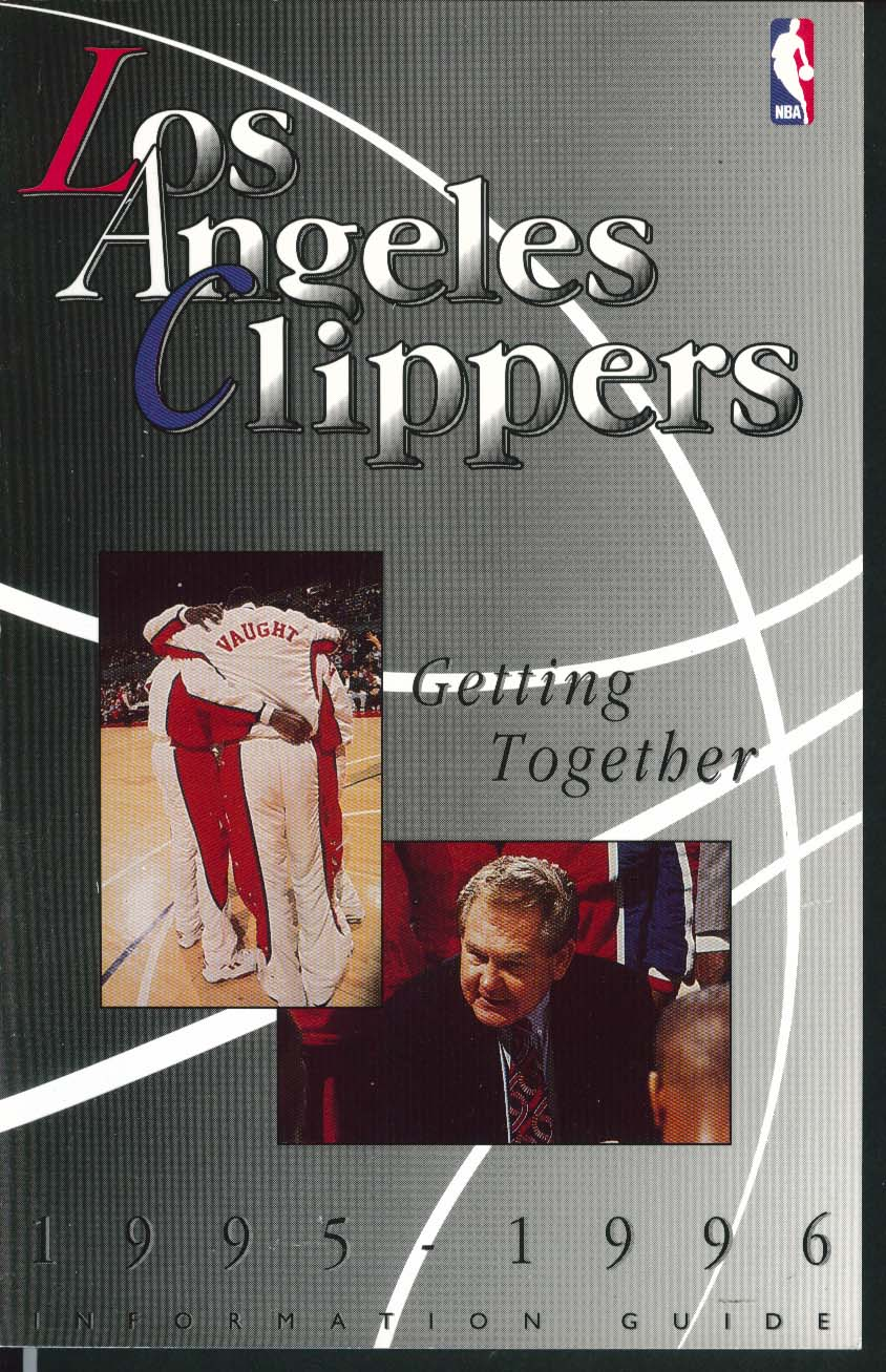 Image for Los Angeles Clippers 1995 1996 NBA Media Information Guide