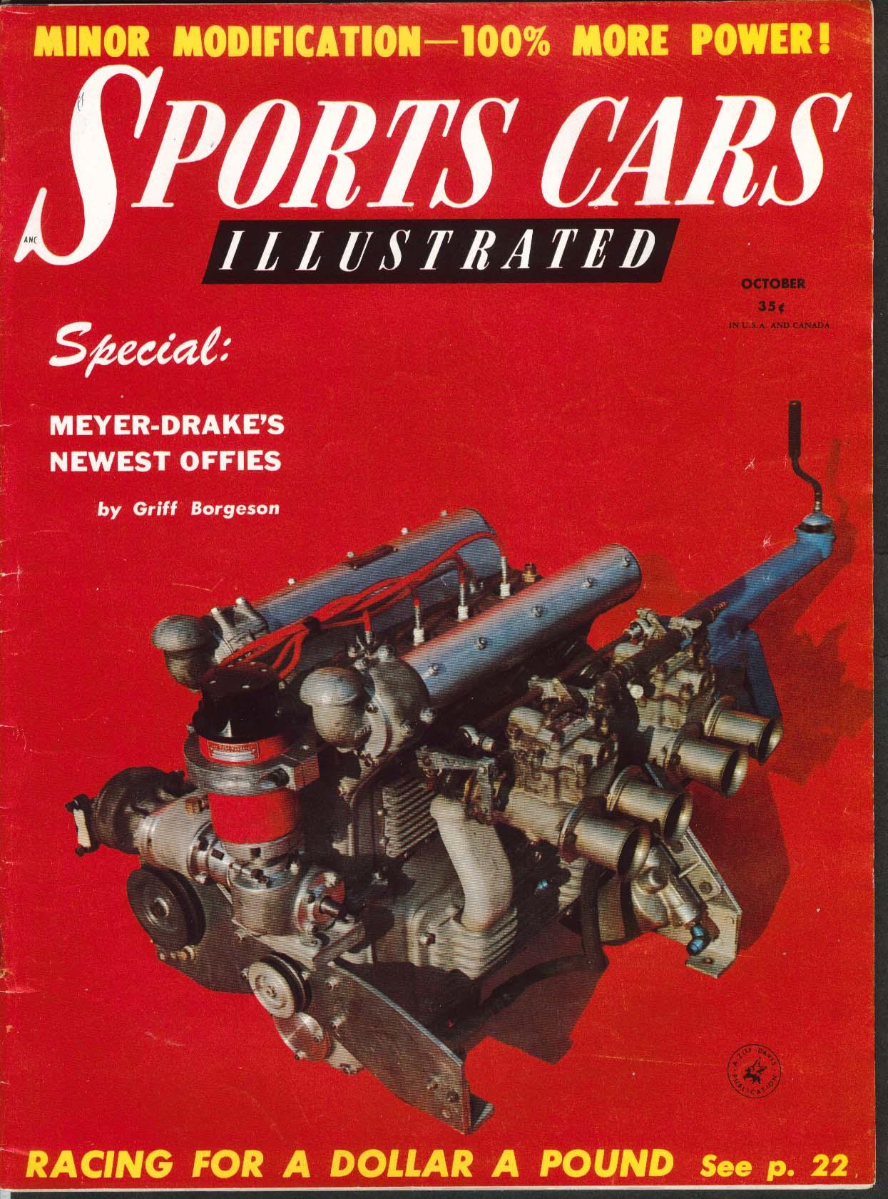 Image for SPORTS CARS ILLUSTRATED Renault Dauphine 2.4 Jaguar road tests 10 1956