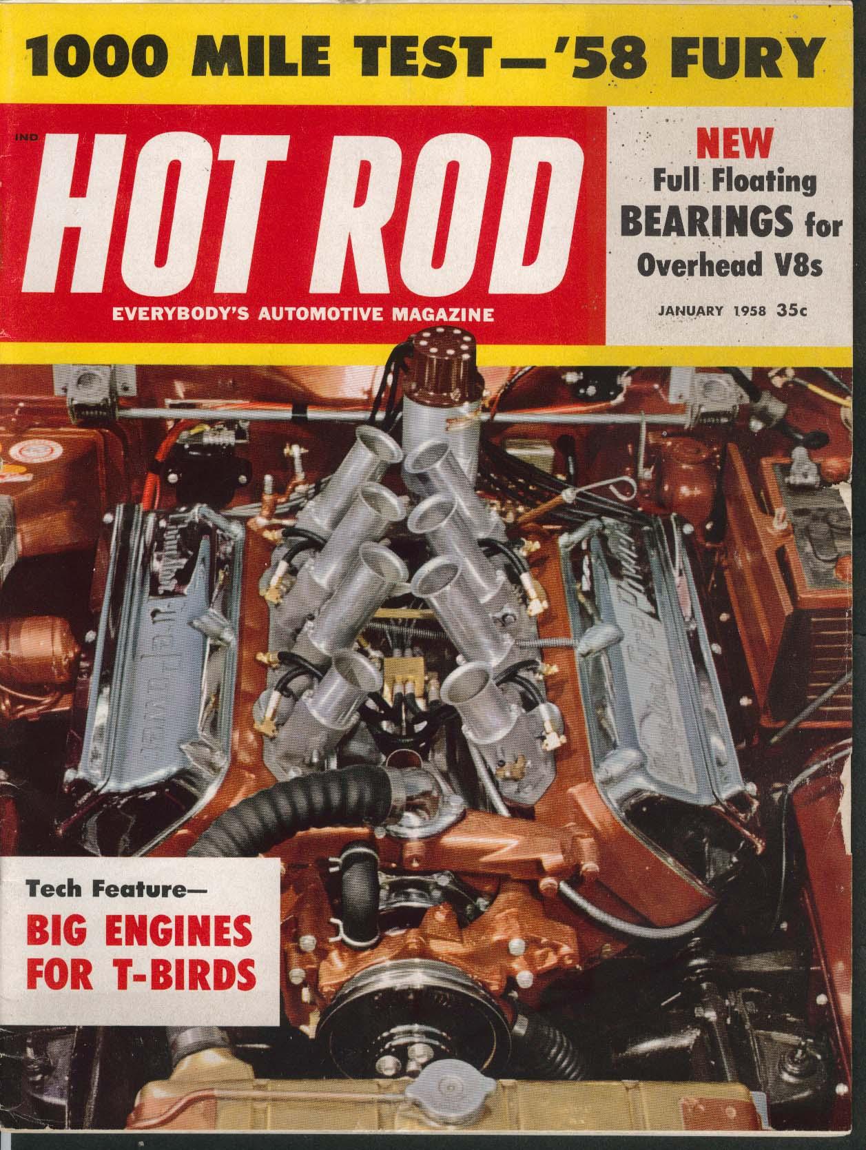 Image for HOT ROD Plymouth Fury 1000 mile test Thunderbird V8 1 1958