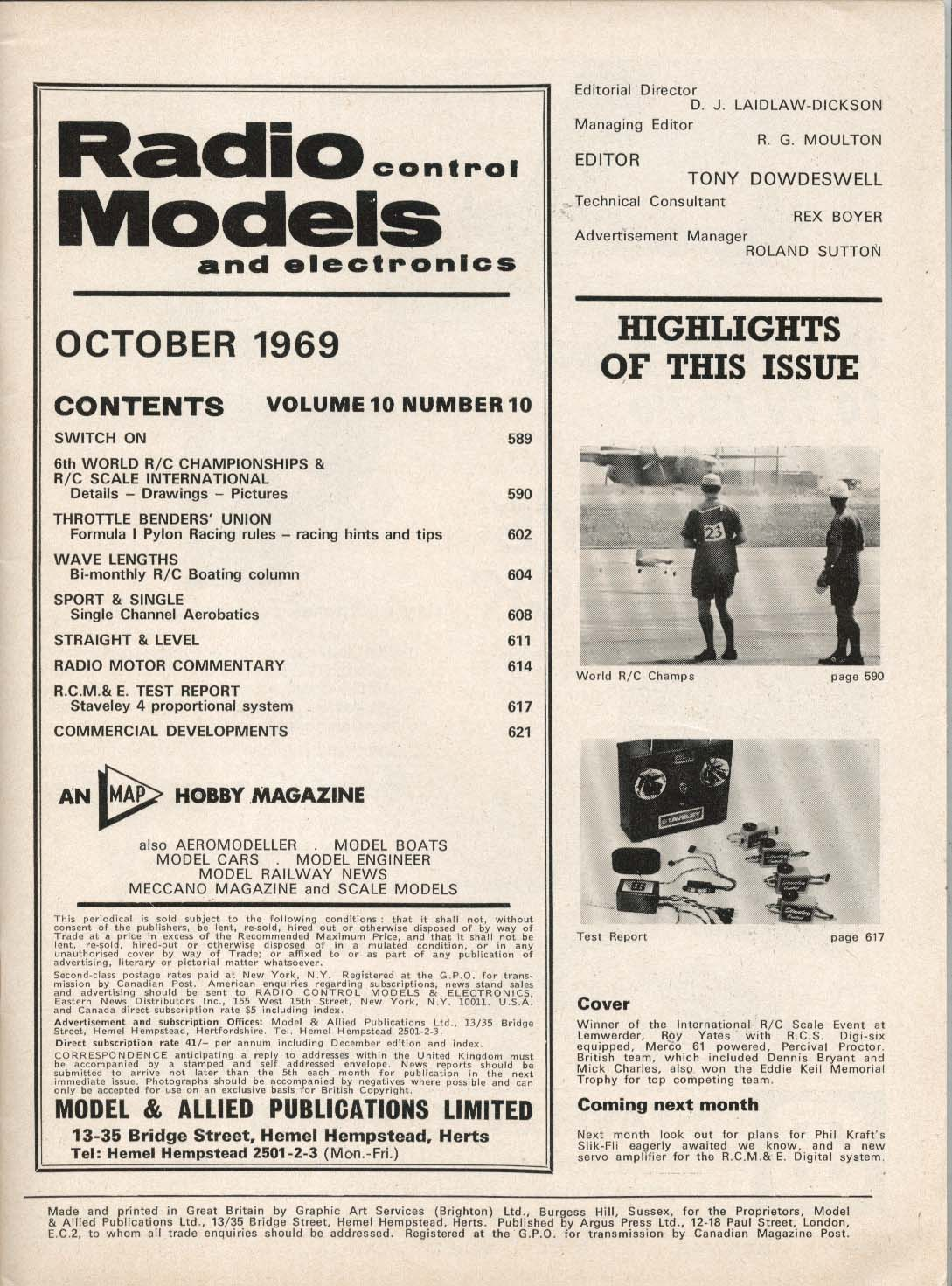 Image for RADIO CONTROL MODELS World R/C Champs & Scale Internationals 10 1969