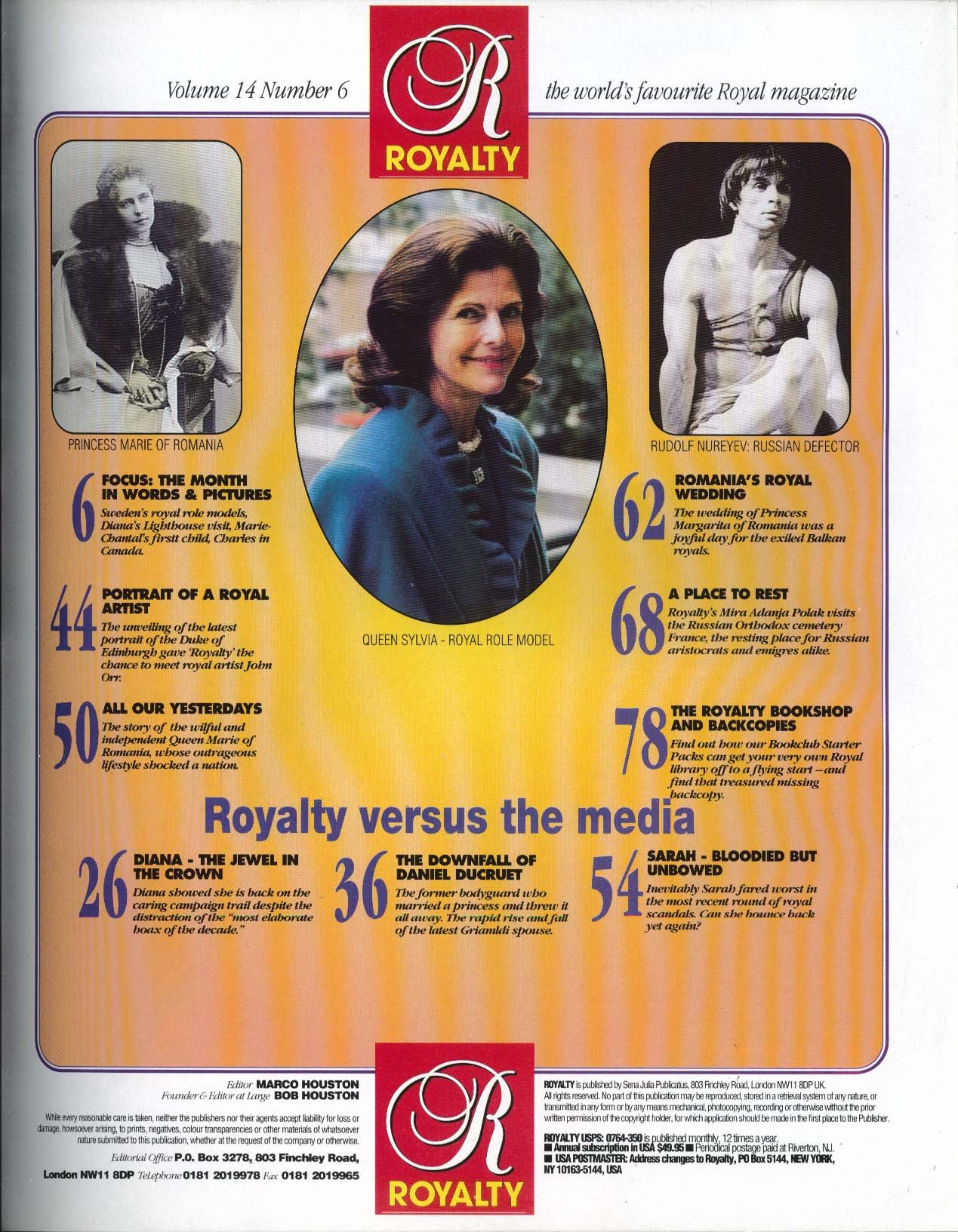 Image for ROYALTY MONTHLY Vol 14 #6 Daniel Ducruet Princess Margarita Romania Queen Sylvia