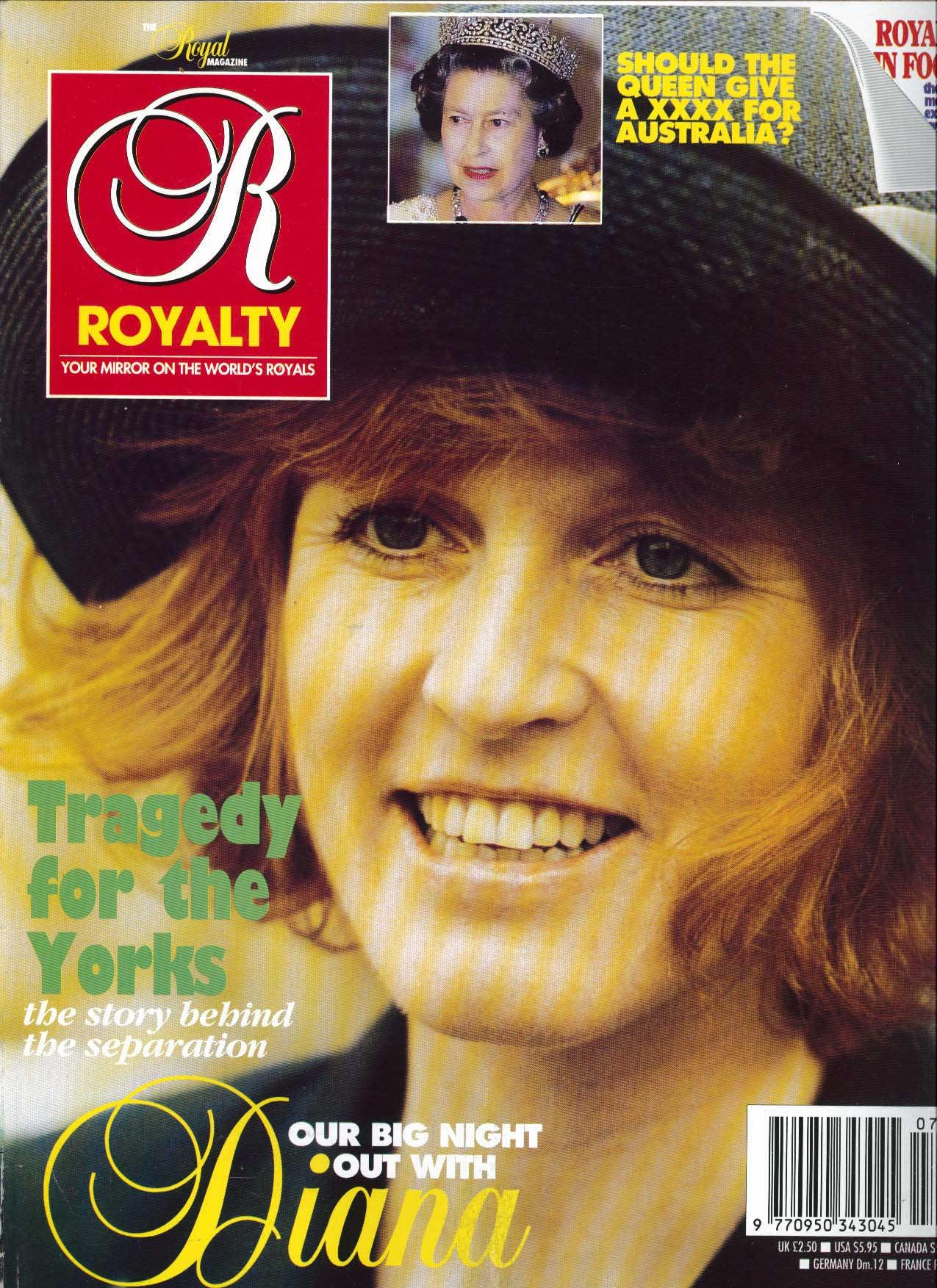 Image for ROYALTY MONTHLY Yorks Separation Night out with Diana 4 1992