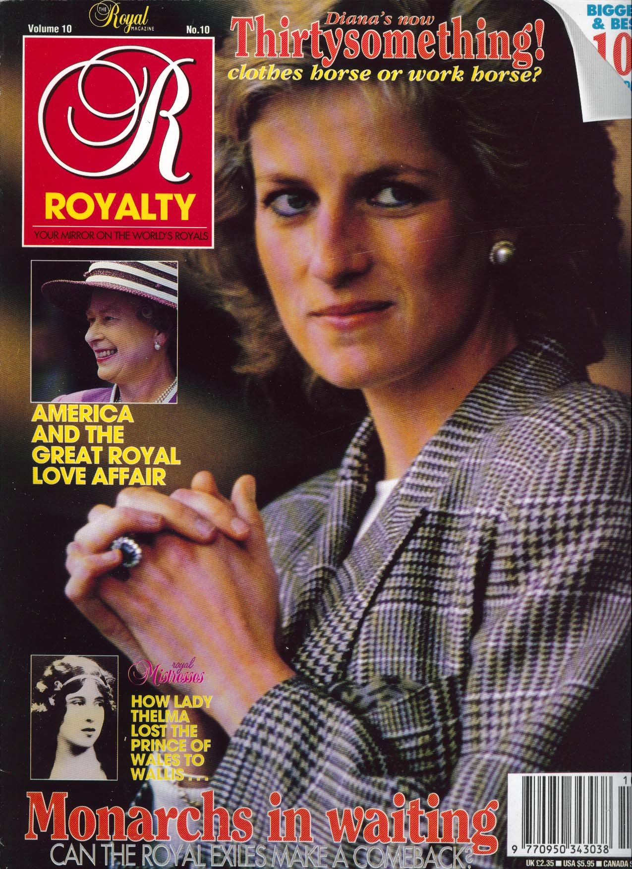 Image for ROYALTY MONTHLY Princess Diana at 30 Lady Thelma Queen Elizabeth 7 1991