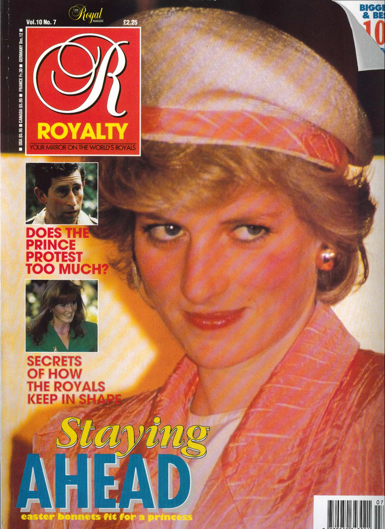 Image for ROYALTY MONTHLY Duchess Sarah Princess Diana Prince Charles 4 1991