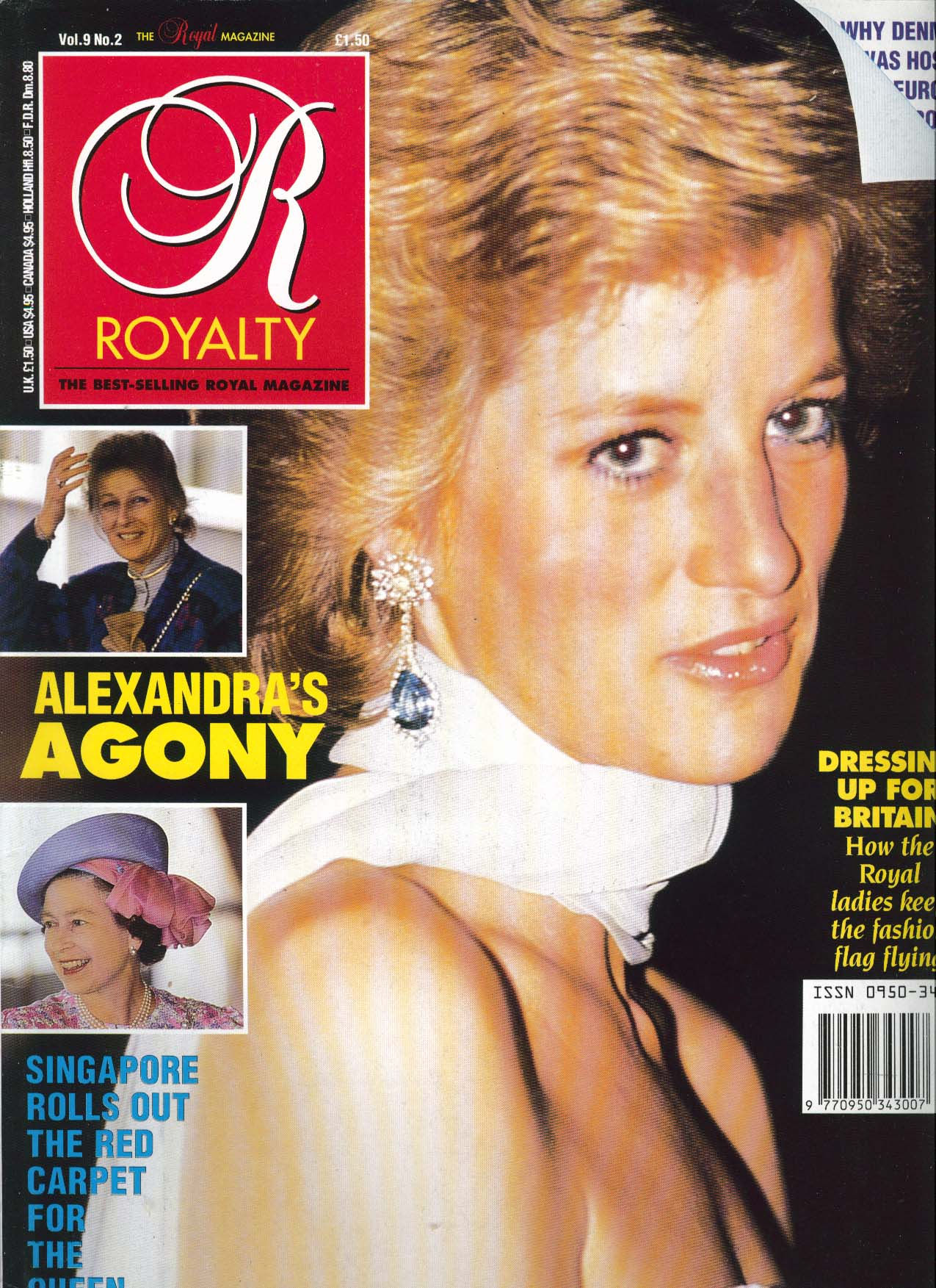Image for ROYALTY MONTHLY Diana Princess of Wales Fashion Alexandra Queen 11 1989