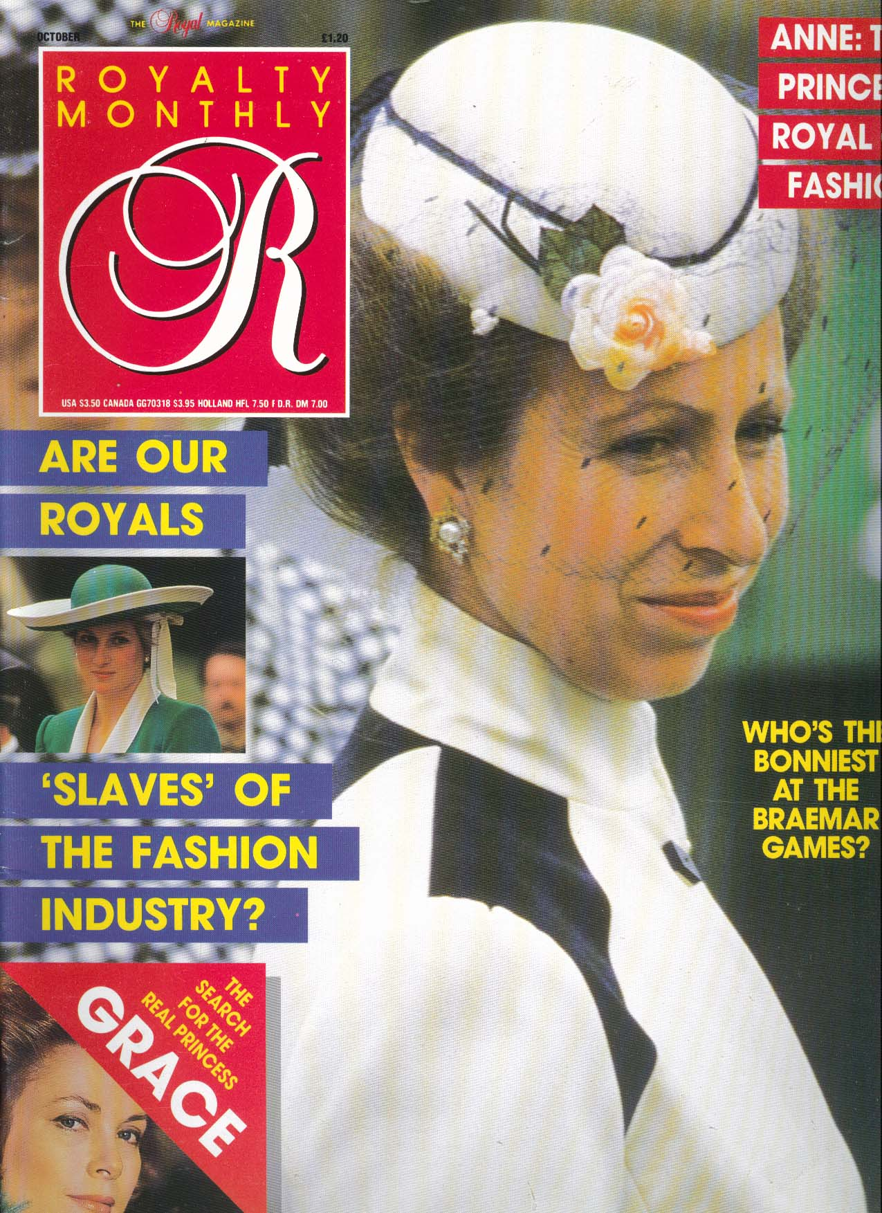 Image for ROYALTY MONTHLY Braemar Games Anne Diana Grace Fashion 10 1987