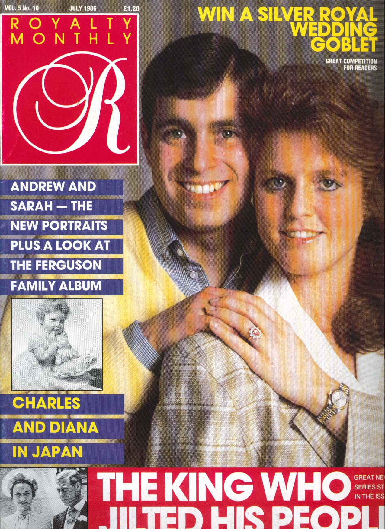 Image for ROYALTY MONTHLY Andrew & Sarah Portraits Ferguson Charles & Diana Japan 7 1986