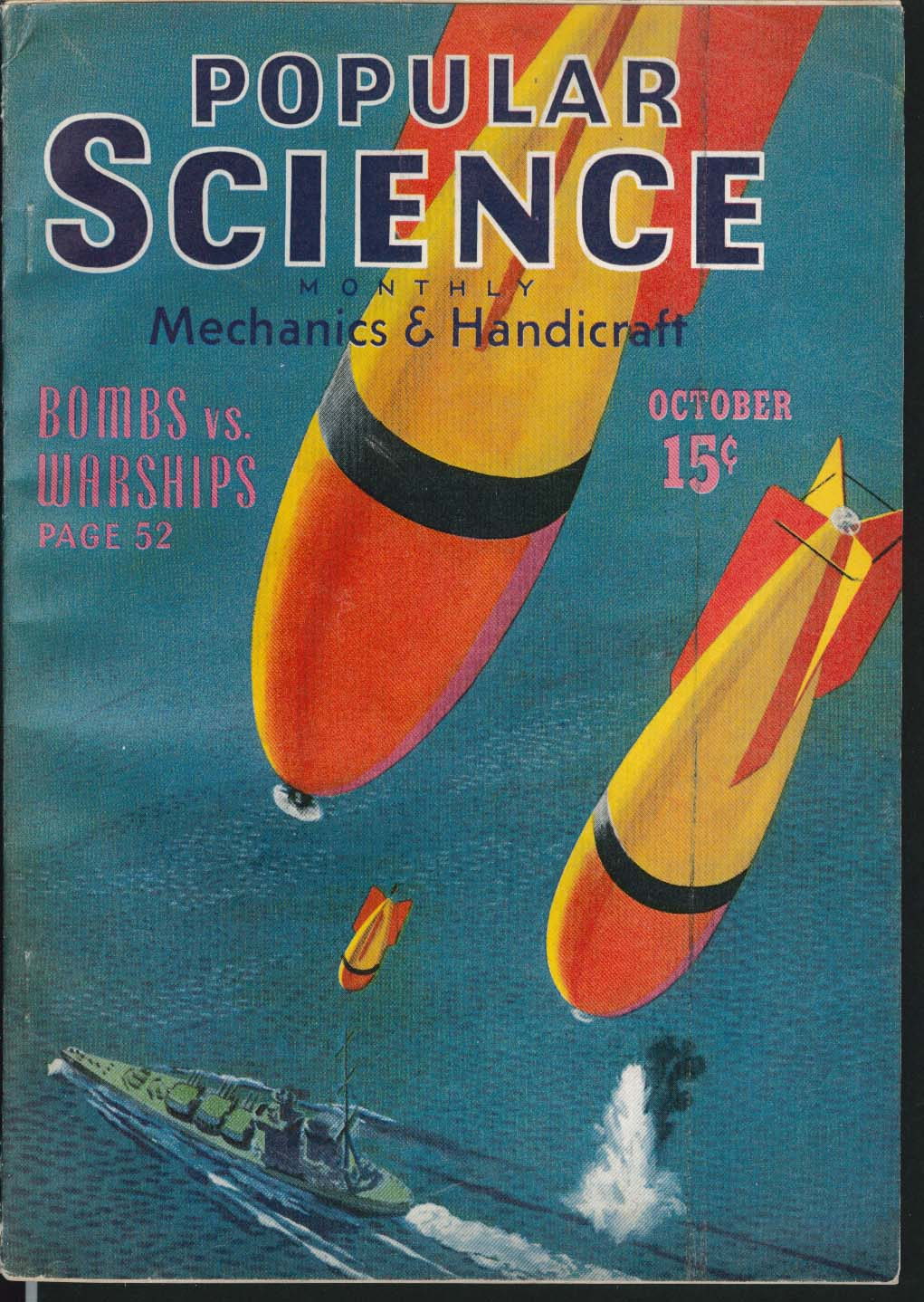 Image for POPULAR SCIENCE 17-Year Locust Automobile Assembly Lines Defense Guns 10 1940