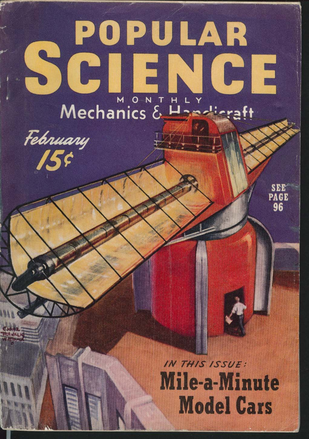 Image for POPULAR SCIENCE Overhead Garage Door Skiing Fitness Observatory 2 1940