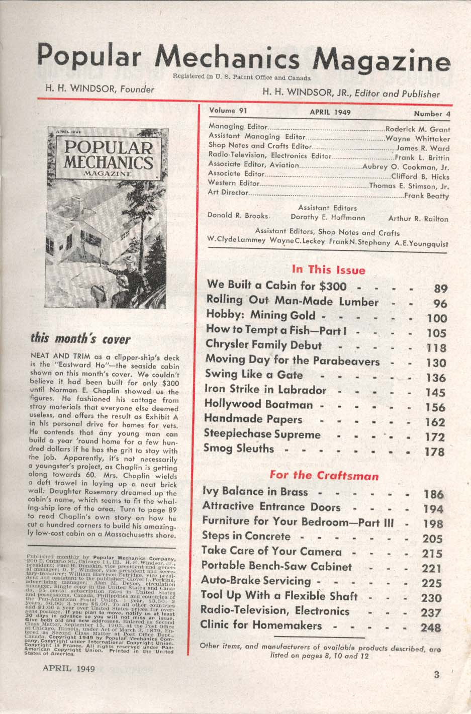 Image for POPULAR MECHANICS Parabeavers Man-Made Lumber Labrador Iron Strike ++ 4 1949