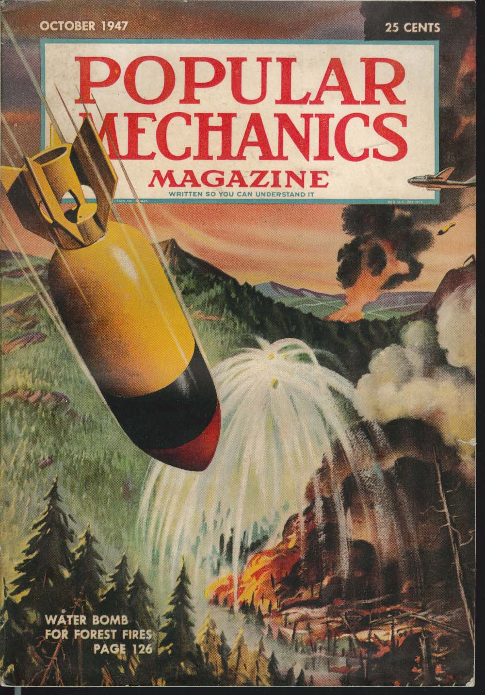 Image for POPULAR MECHANICS Water Bomb Forest Fires Bowler First Aid Motorcycles 10 1947