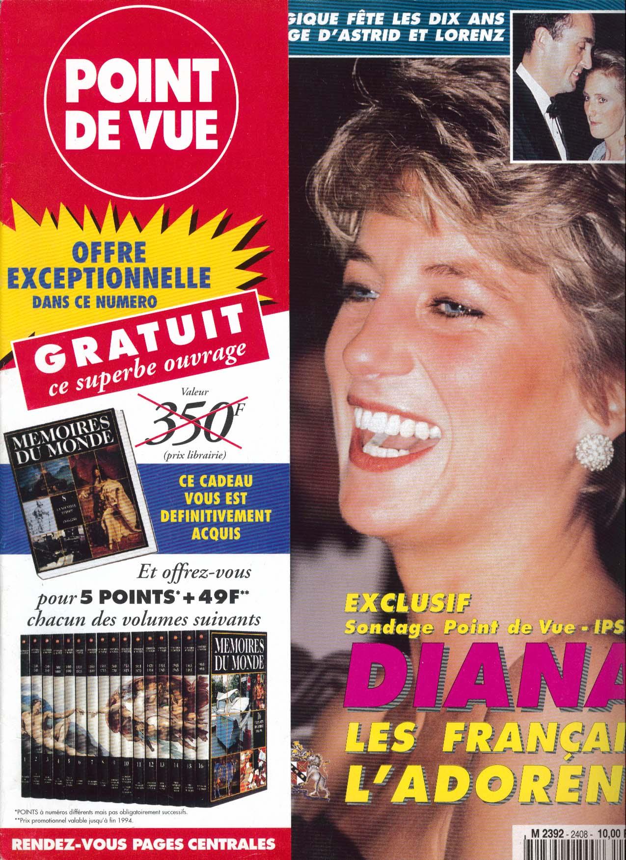 Image for POINT DE VUE Princess Diana in France 9 1994
