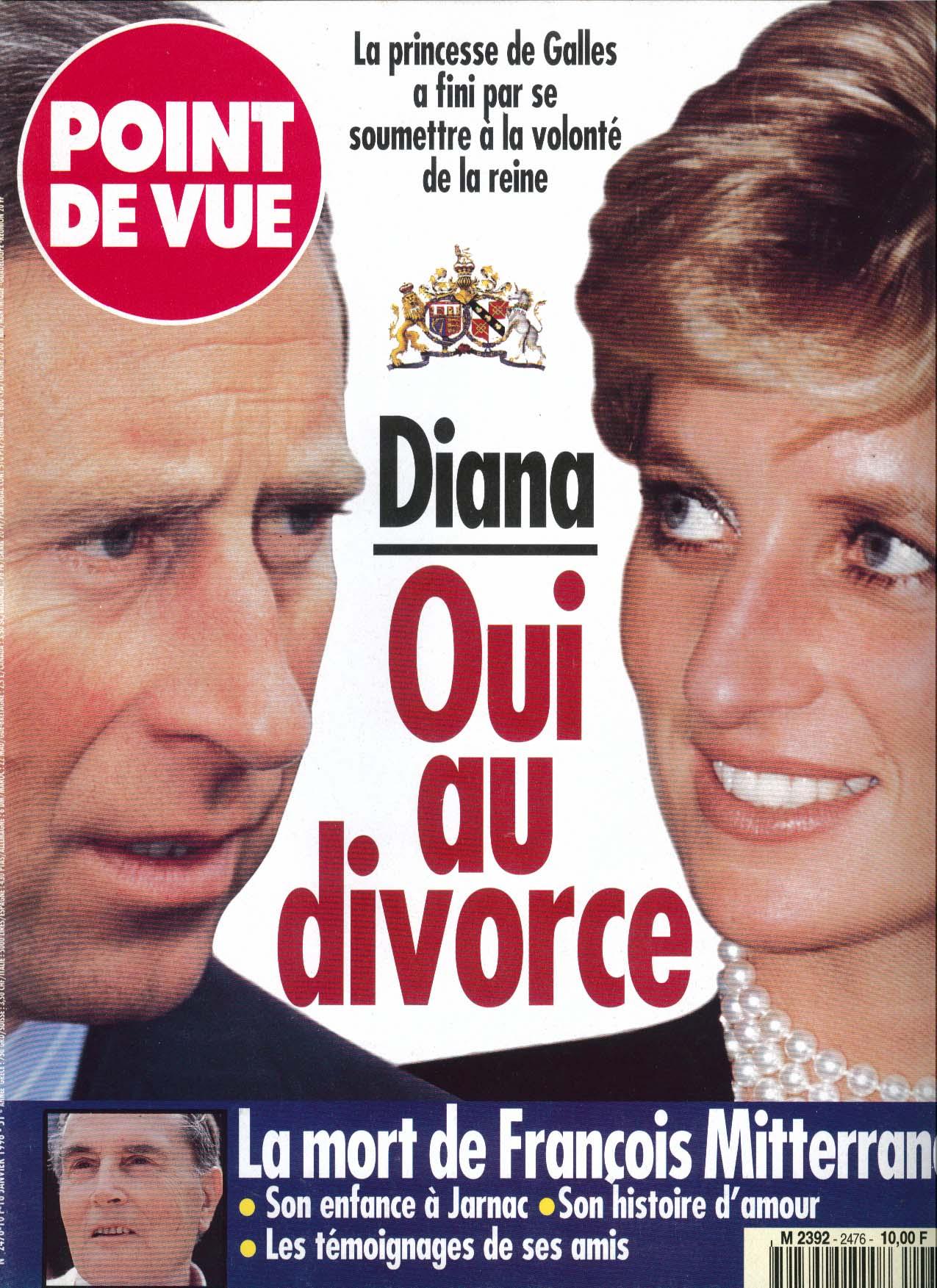 Image for POINT DE VUE Prince Charles Princess Diana Divorce 1 1996