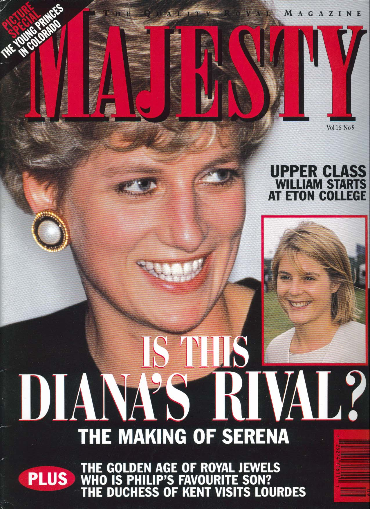 Image for MAJESTY Vol 16 #9 Diana Serena Rivalry Duchess of Kent in Lourdes 9 1995