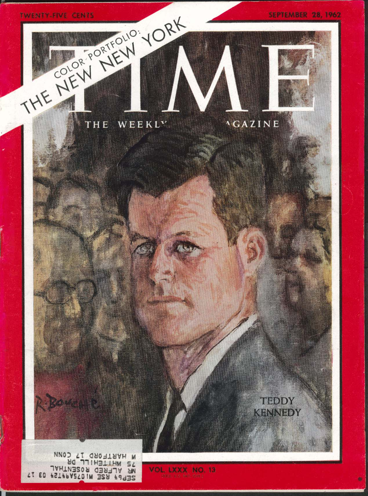 Image for TIME Teddy Kennedy Algieria France Vietnam Guantanamo Bay Modern Steel 9/28 1962