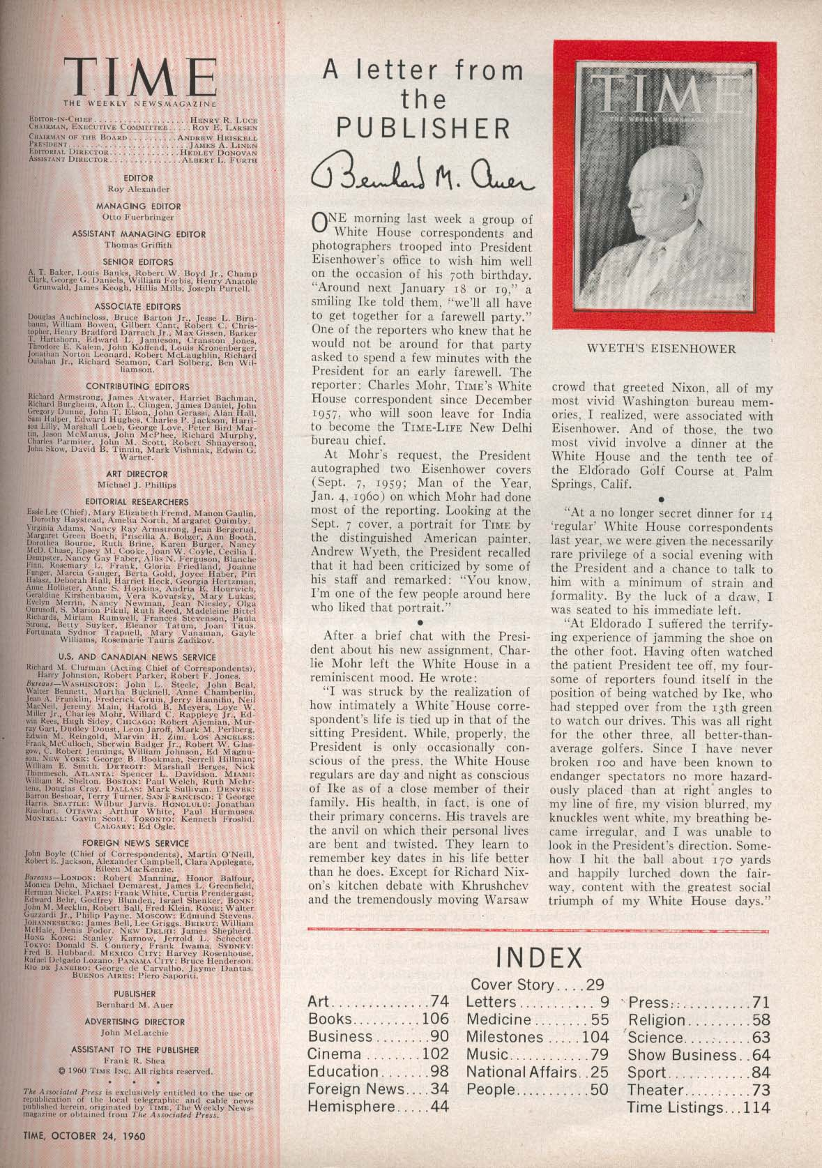 TIME Paul Bagwell Khrushchev Japan Asanuma Yamaguchi Assassin Cuba 10/24 1960
