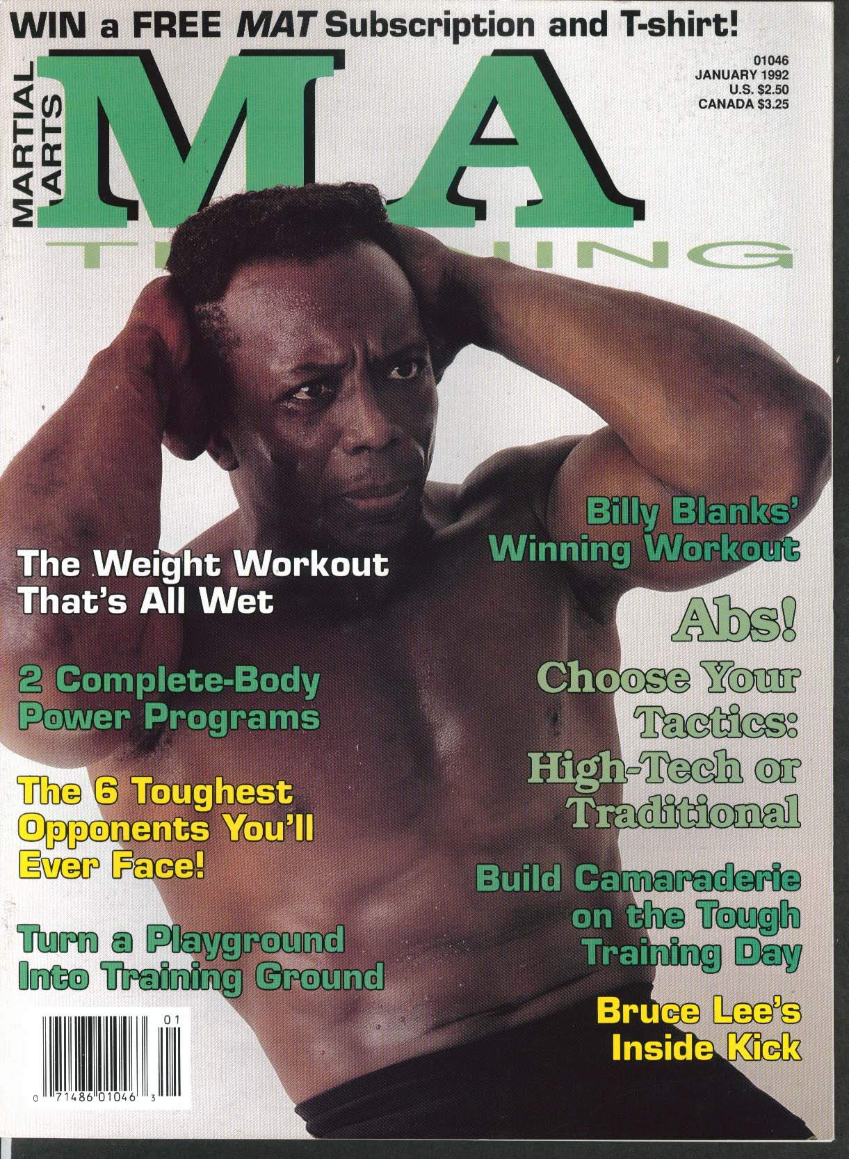 Image for MARTIAL ARTS MA TRAINING Billy Blanks Bruce Lee Inside Kick T-Shirt Offer 1 1992