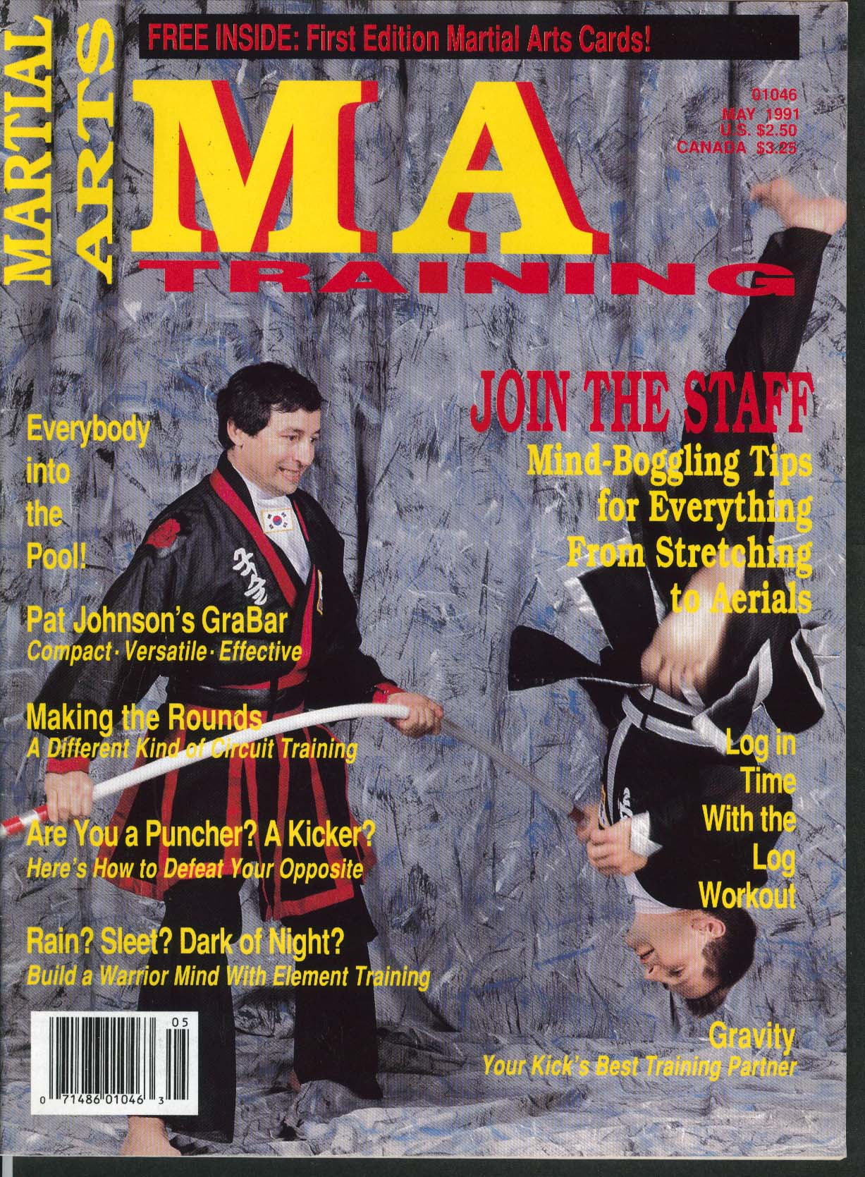 Image for MARTIAL ARTS MA TRAINING Pat Johnson GraBar Eric Lee Warrior Mind 5 1991