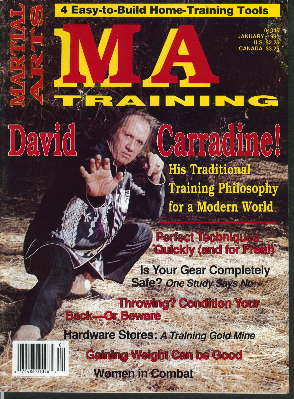Image for MARTIAL ARTS MA TRAINING David Carradine Gear Safety Women in Combat 1 1991