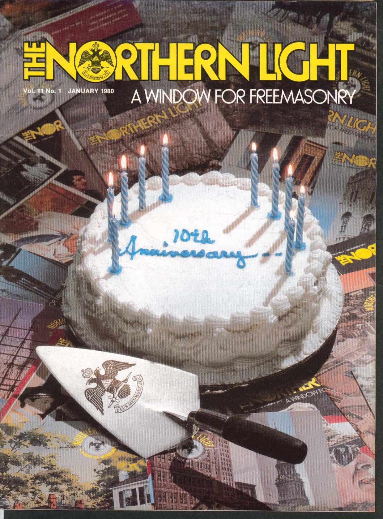 Image for NORTHERN LIGHT Vol 11 #1 William Pitt Tavern New Hampshire Masonic Lodge 1 1980