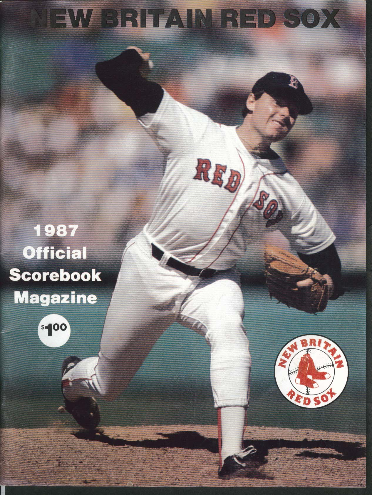 Image for NEW BRITAIN RED SOX 1987 Official Scorebook Magazine - Unscored